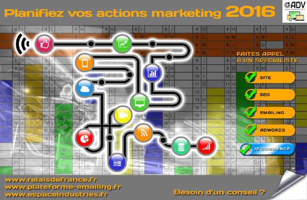 Planifiez vos actions marketing 2016